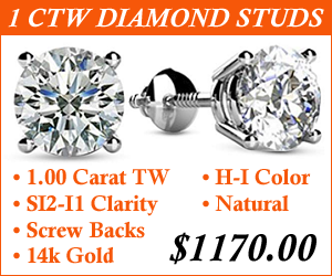 1 Carat Diamond Stud Earrings Sale