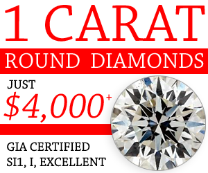1 Carat Round Diamonds Just 4000