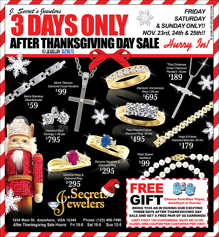 After Thanksgiving Day Sale Flier Sample Advertisement