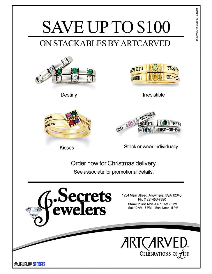 ArtCarved Stackables Ad Sample Advertisement