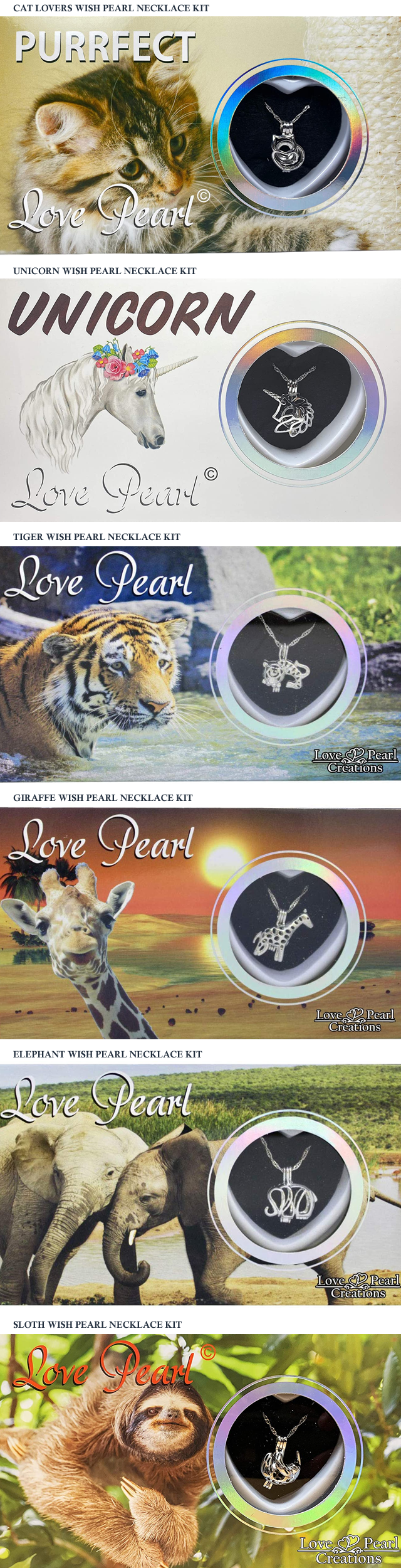 NEW ANIMAL WISH PEARL NECKLACE KITS