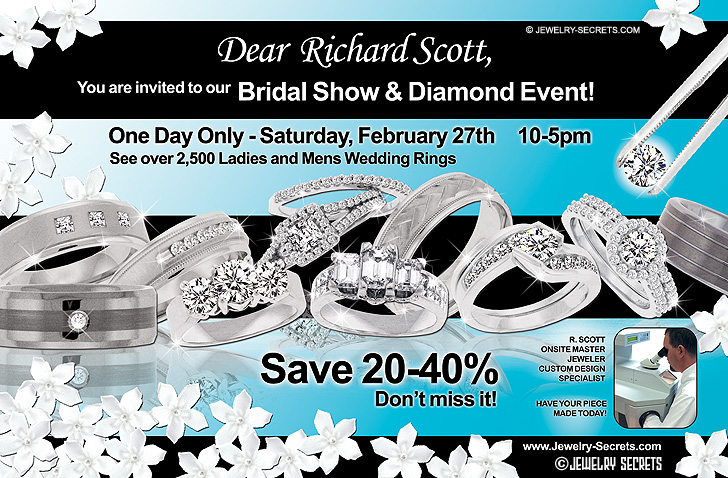 Bridal Show Diamond Event Sample Advertisement
