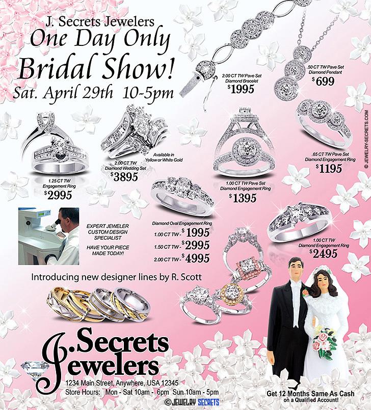 Bridal Show Flier Sample Advertisement