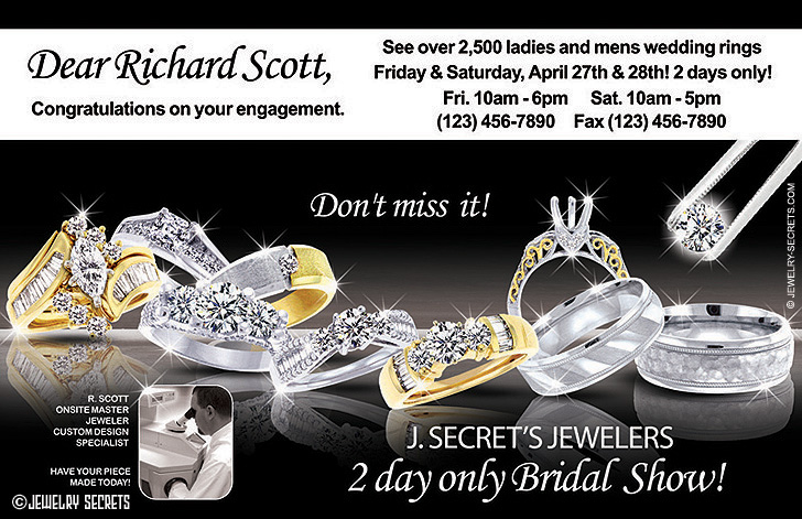Bridal Show Postcard Ad Sample Advertisement