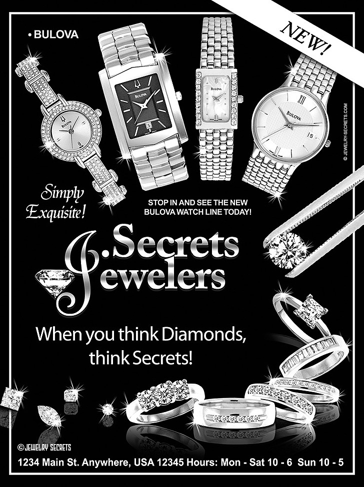 Bulova Watch Sample Advertisement