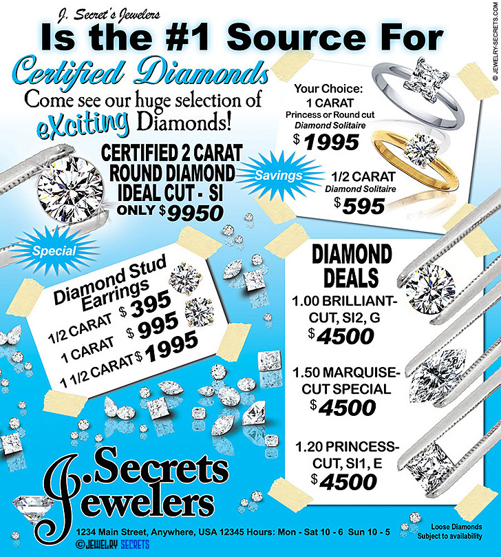 Certified Diamond Sales Event Sample Advertisement