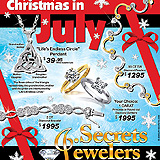 Christmas in July Jewelry Sample Ad
