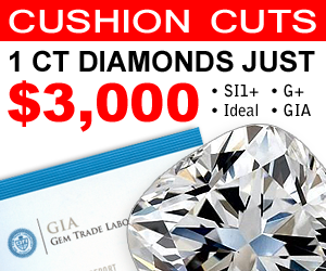 1 Ct Cushion Cut Diamonds for just 3000