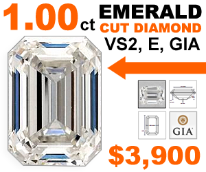 1 Carat Emerald Cut Diamond Deals