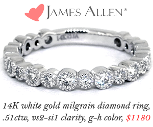 James Allen Wedding Band Sale