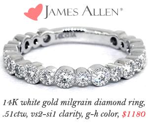 James Allen Wedding Band Sale