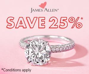 James Allen 25 Percent Off Sale
