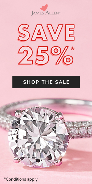 James Allen 25 Percent Off Sale