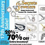 Jewelry Store Anniversary Sale Sample Ad
