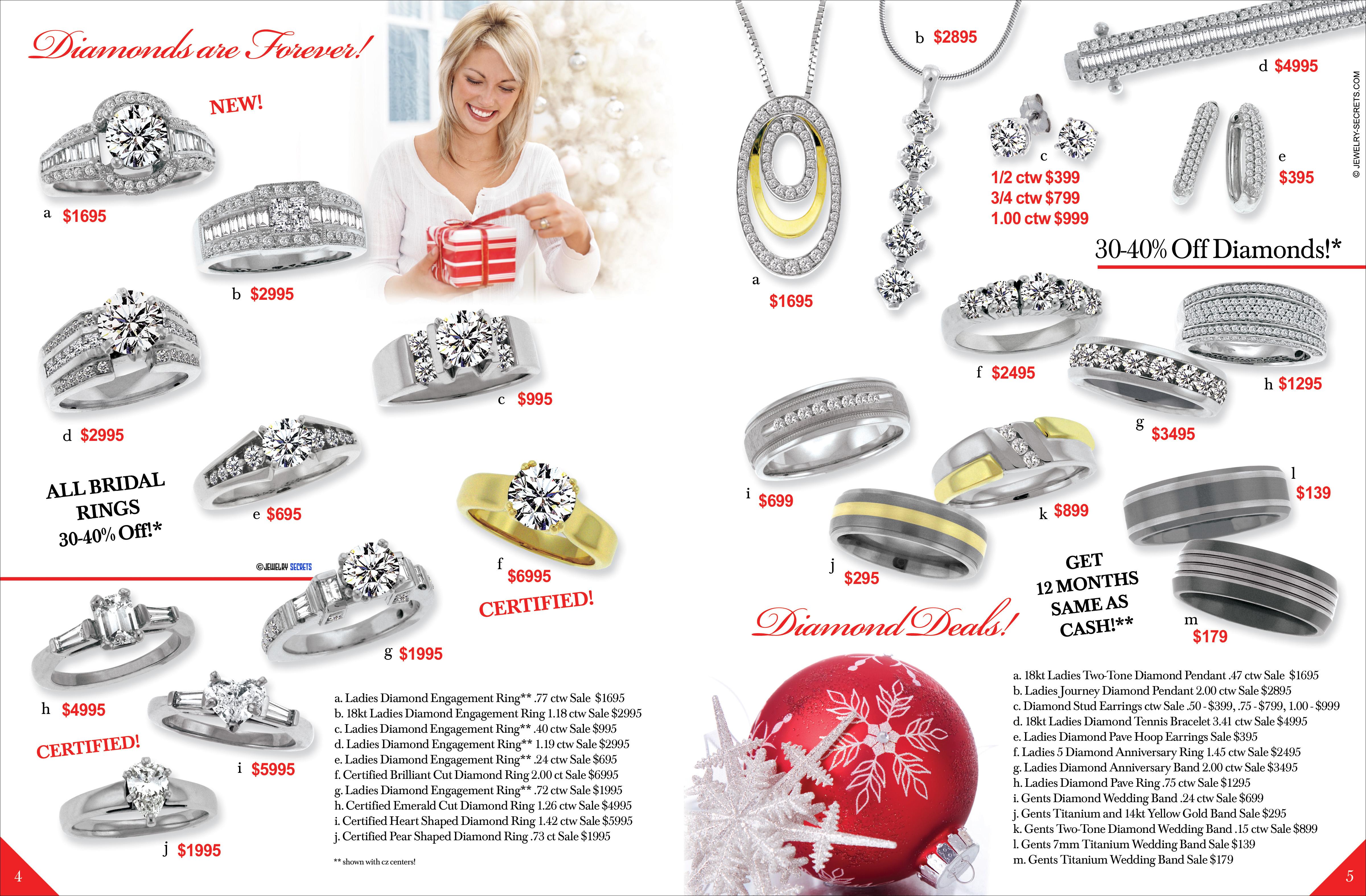 christmas catalog centerfold sample advertisement jewelry secrets