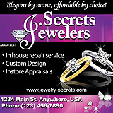 Jewelry In House Repairs Sample Ad