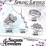 Jewelry Spring Savings Sample Ad