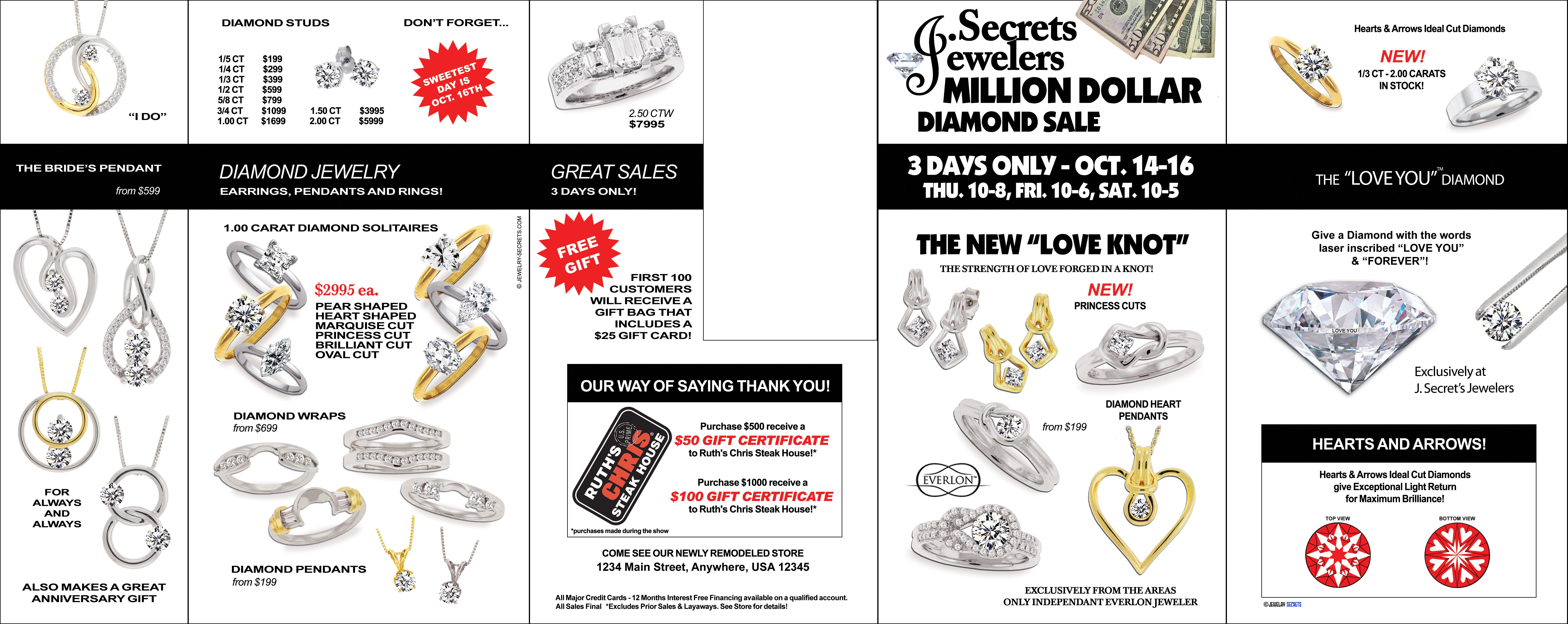 MILLION DOLLAR JEWELRY SALES EVENT SAMPLE BOOKLET – Jewelry Secrets
