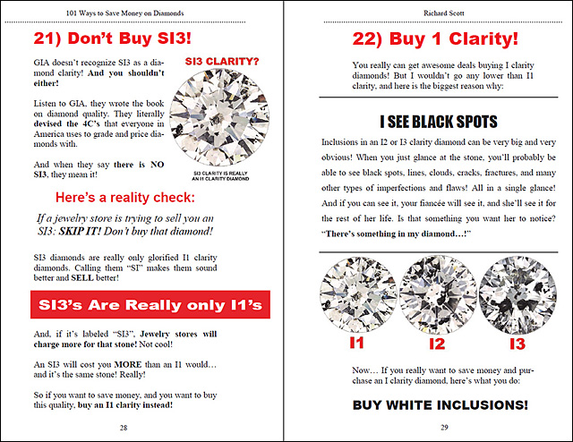 101 Ways to Save Money On Diamonds Page 28-29!