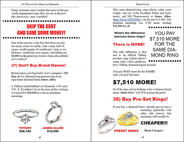 101 Ways to Save Money On Diamonds Page 48-49!