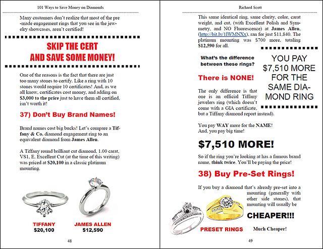 101 Ways to Save Money On Diamonds Page 48-49!