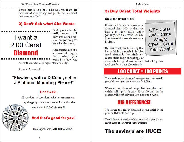 101 Ways to Save Money On Diamonds Page 8-9!
