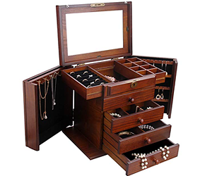 Wooden Jewelry Box Organizer