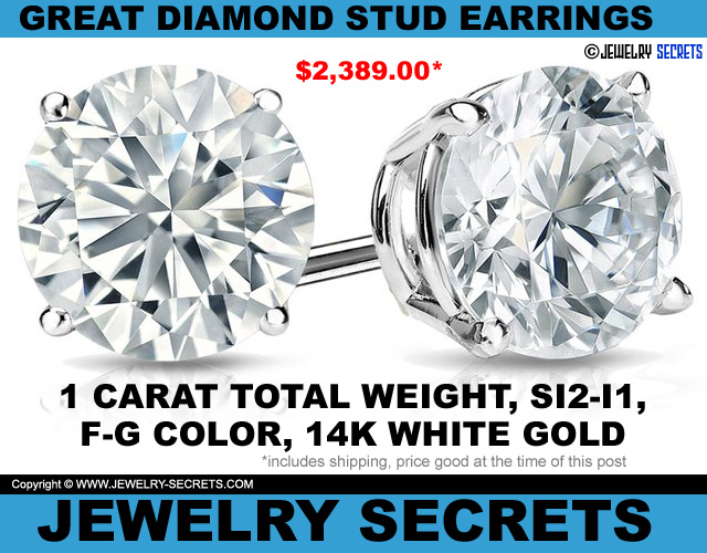 Great Diamond Stud Earrings