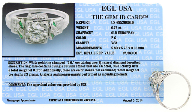EGL Certified Diamond Price Value