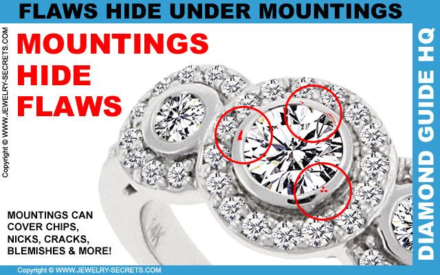 Mountings Hide Diamond Flaws