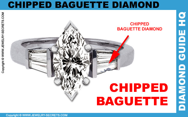 Chipped Cracked Baguette Diamond