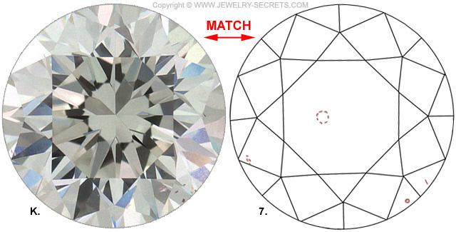 Diamond Clarity VS2 J Diamond-Match