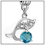 Dolphin Charm Bead Dangle