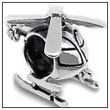 Helicopter Tours Charm Bead