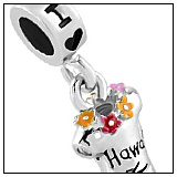 I Love Hawaii T-Shirt Charm