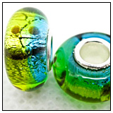 Yellow Blue Green Charm Bead