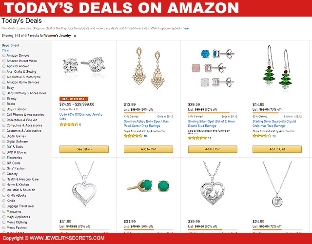 Todays Jewelry Deals On Amazon