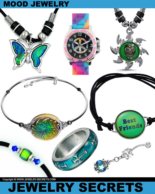 Cool Mood Jewelry Ring Pendant Bracelet Belly Watch