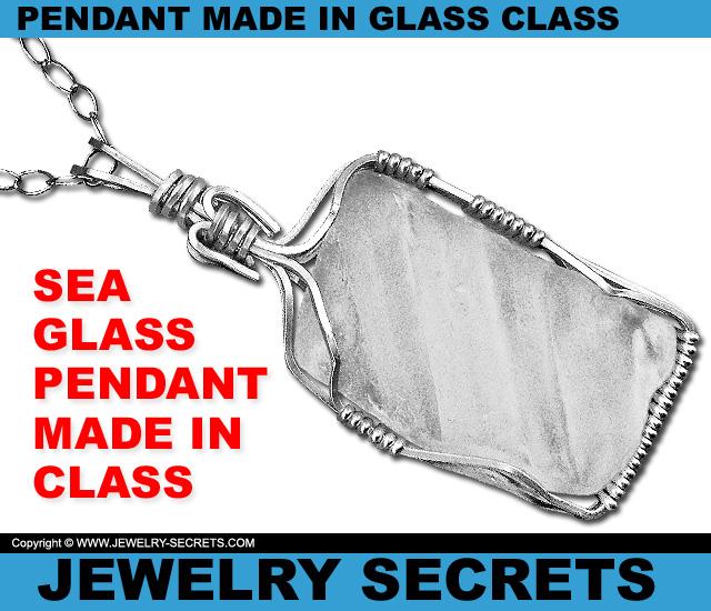 Sea Glass Pendant Made In Glass Class