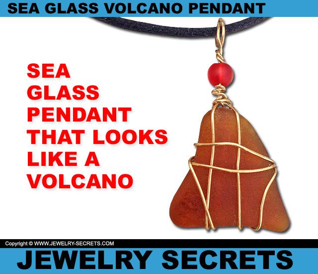 Sea Glass Pendant That Looks Like A Volcano