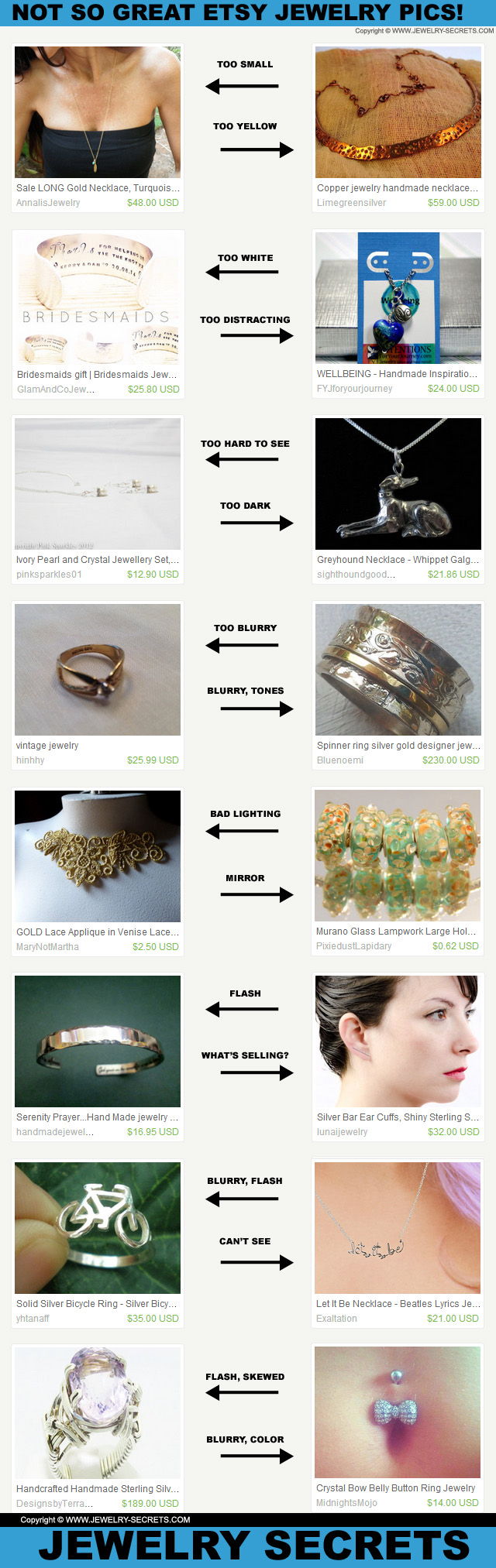Bad Jewelry Photography On Etsy