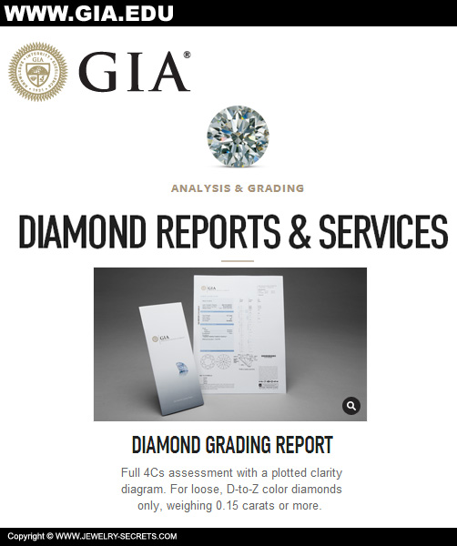 GIA Diamond Certificate Reports