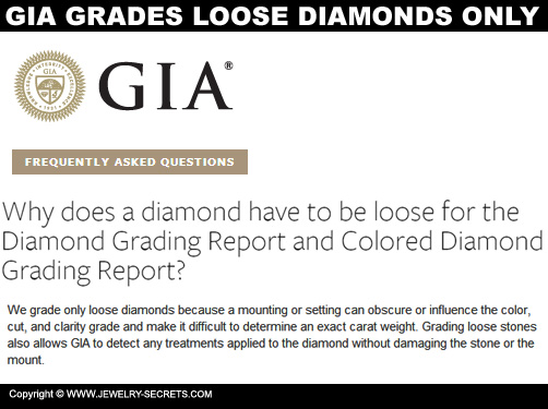 GIA Grades Loose Diamonds Only