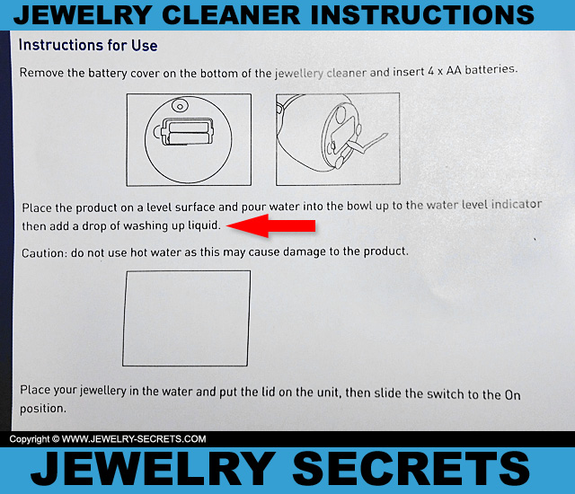 Gentle Jewelry Cleaner Instruction Manual