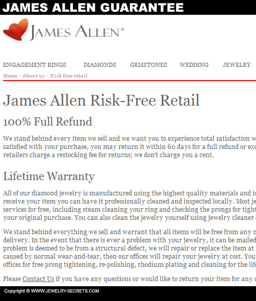 James Allen Diamond Guarantee