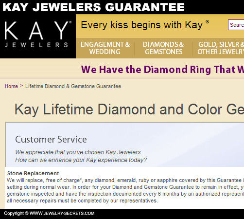 Kay Jewelers Diamond Guarantee
