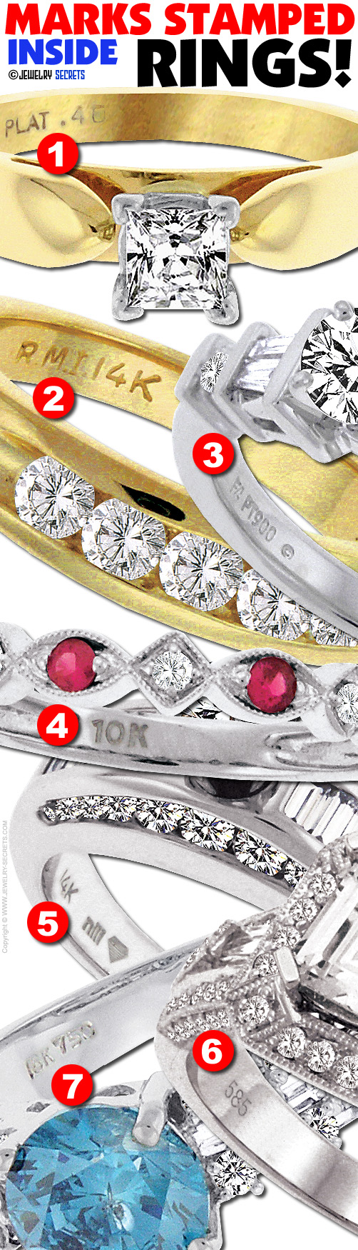 MARKS STAMPED INSIDE RINGS – Jewelry Secrets