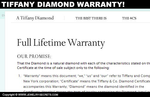 Tiffany Diamond Warranty
