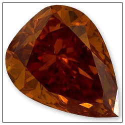 043 Carat Fancy Deep Yellowish Orange Diamond