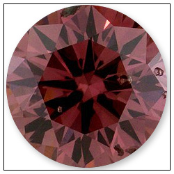 046 Carat Fancy Deep Orangy Pink Diamond